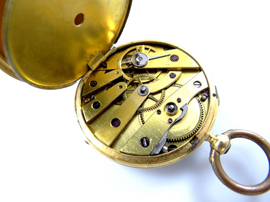 antike tau taschen uhr um 1890 750 gold mit schl ssel und kette ebay. Black Bedroom Furniture Sets. Home Design Ideas