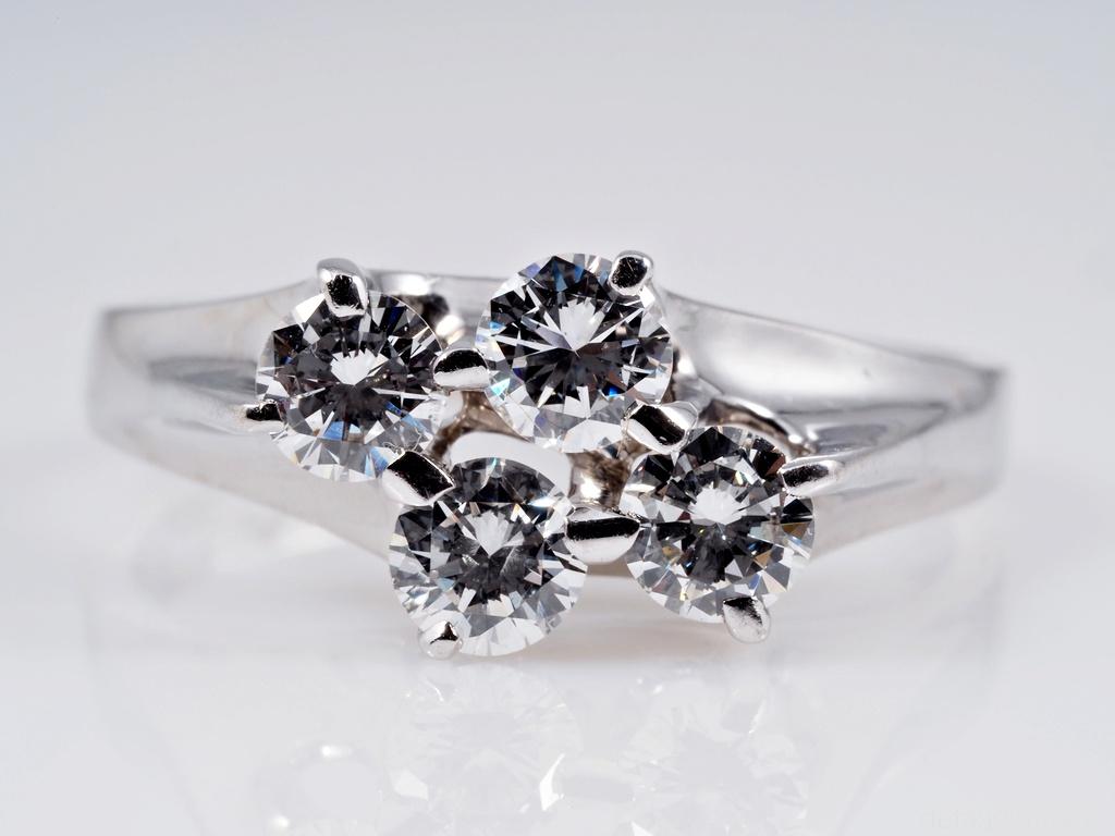 vintage marken ring mit 1 00 karat brillanten 750 gold wert ca ebay. Black Bedroom Furniture Sets. Home Design Ideas
