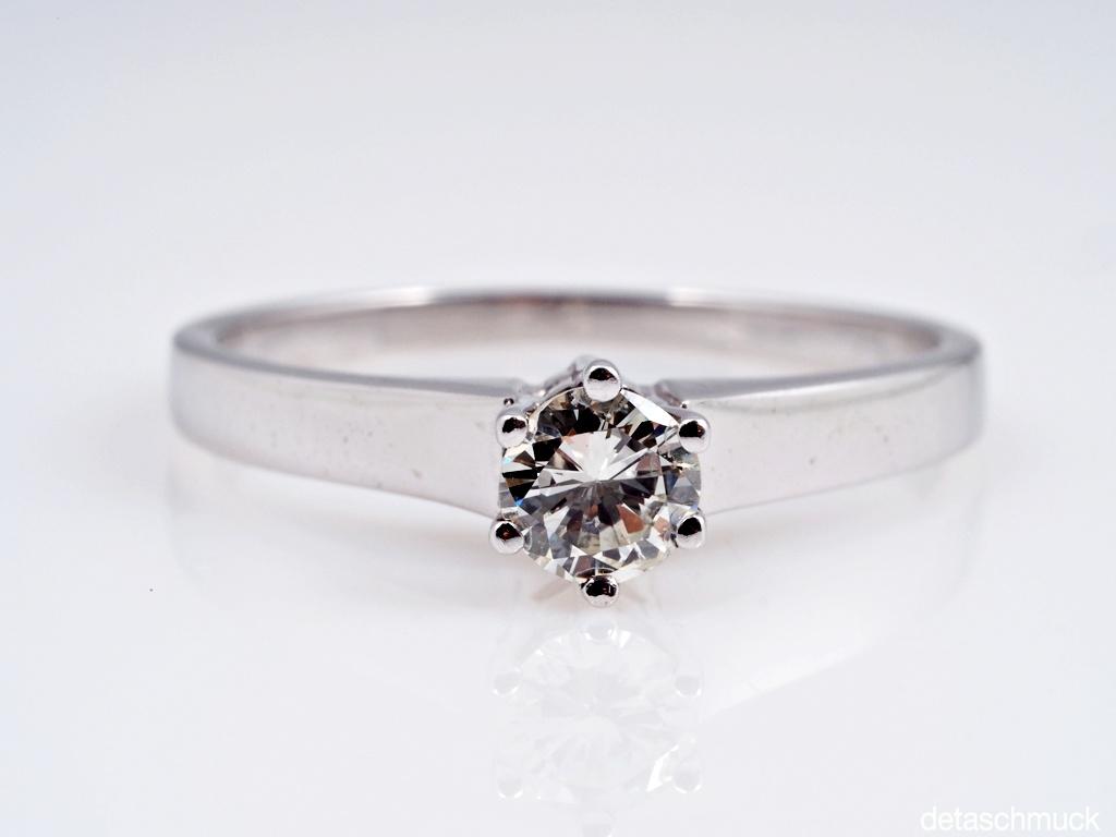 ring mit 0 30 karat solit r brillant 750 gold wert ca eur ebay. Black Bedroom Furniture Sets. Home Design Ideas