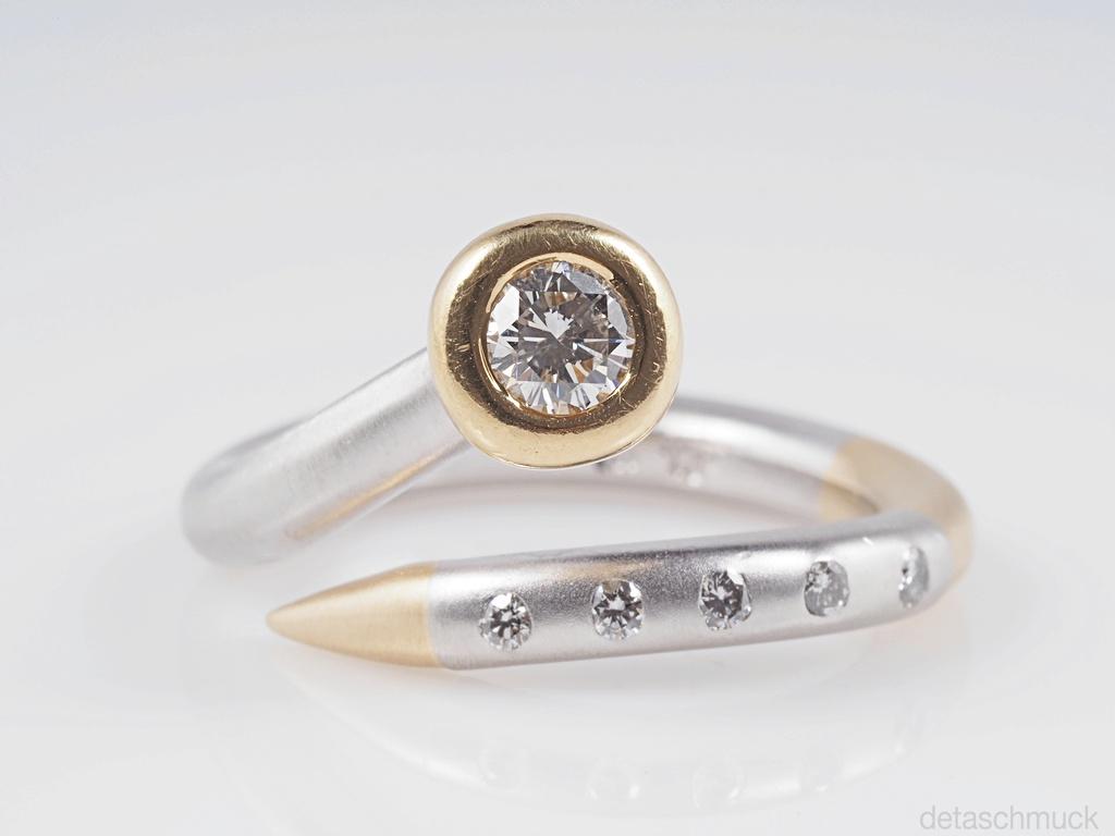 designer ring mit brillanten 950 platin und 750 gold wert ca eur ebay. Black Bedroom Furniture Sets. Home Design Ideas