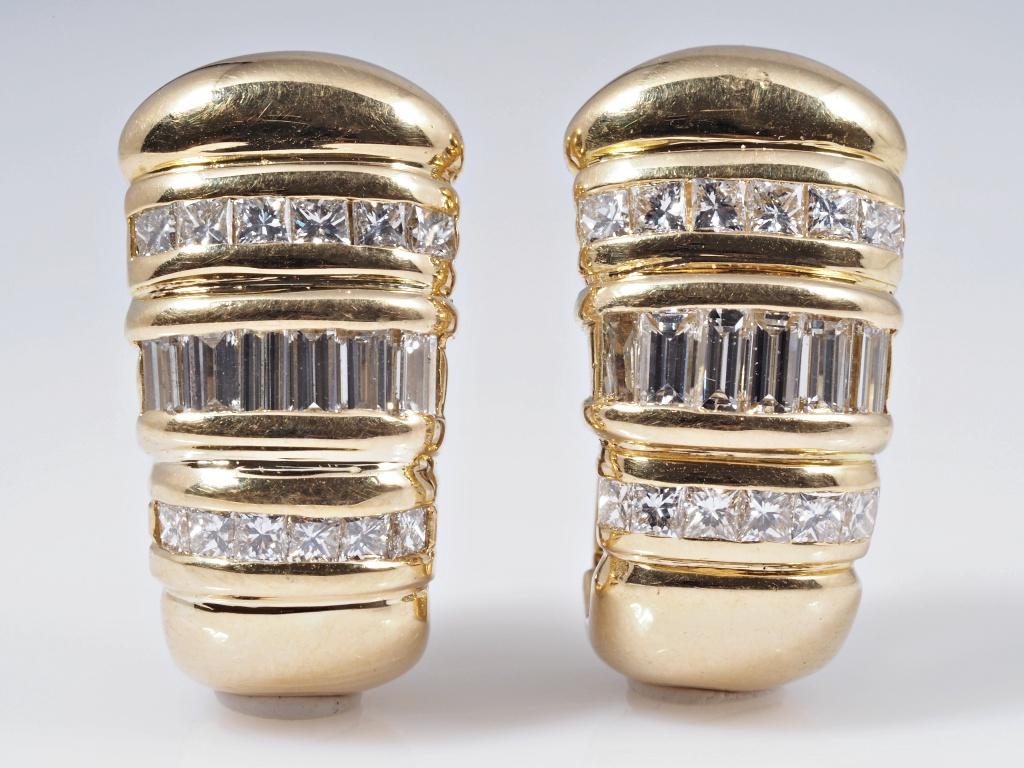 ohrringe ohrstecker 2 10 karat diamanten 750 gold wert ca. Black Bedroom Furniture Sets. Home Design Ideas