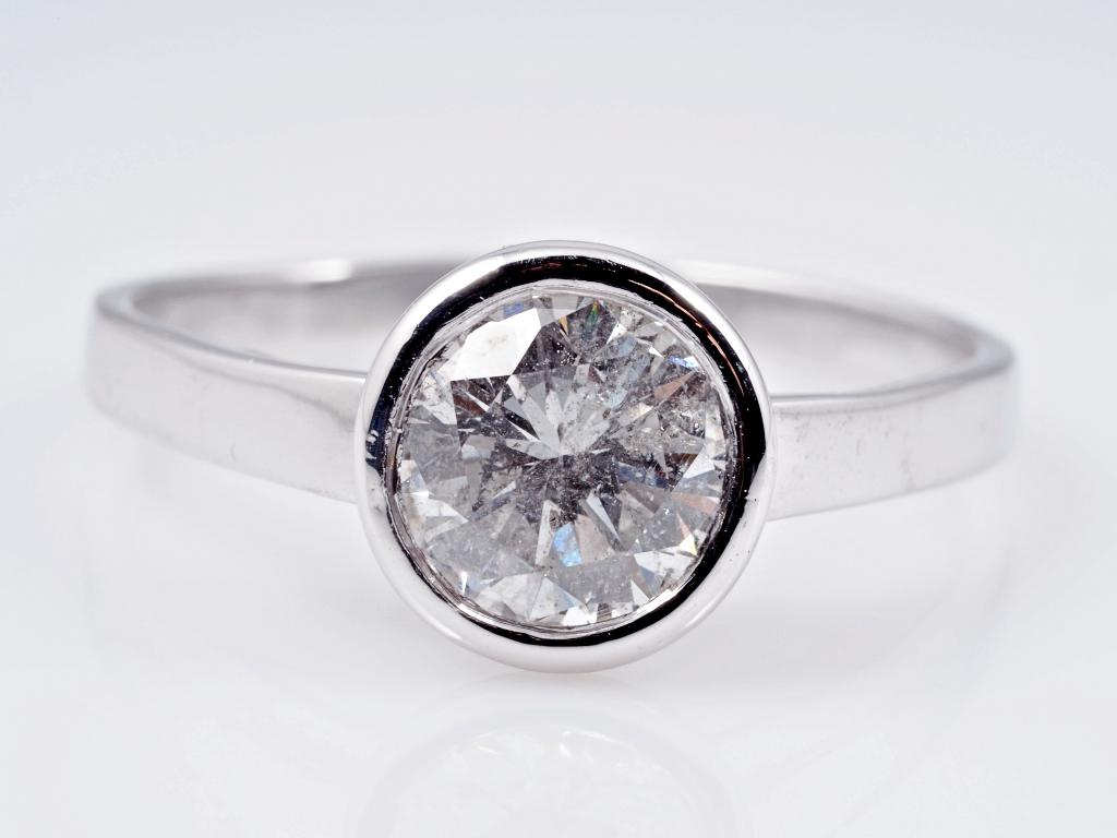ring 1 40 karat solit r brillant 750 weiss gold wert ca eur ebay. Black Bedroom Furniture Sets. Home Design Ideas
