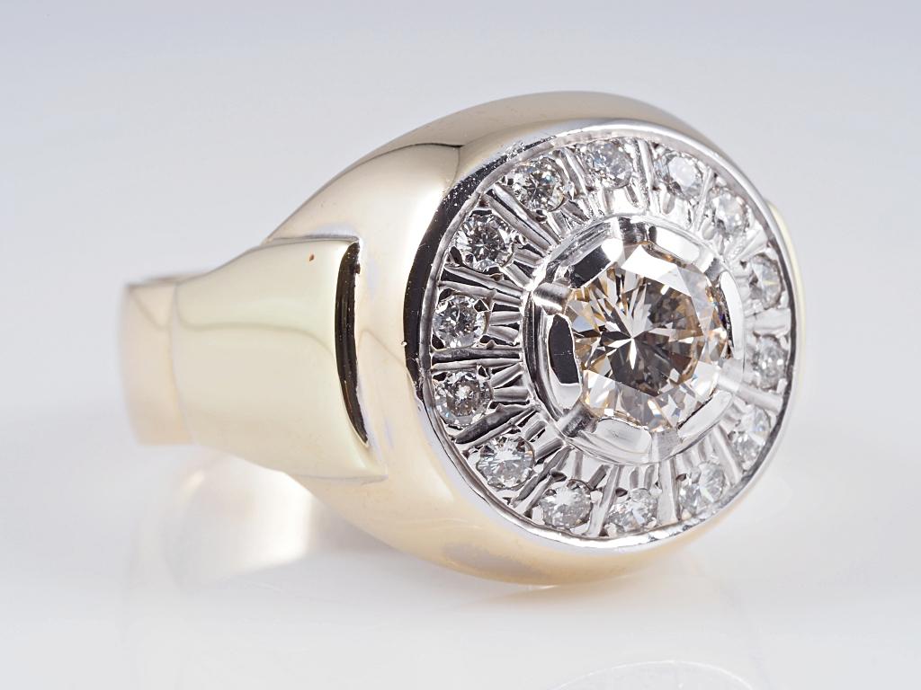 ring 1 57 karat brillanten 585 gold hrd expertise wert ca. Black Bedroom Furniture Sets. Home Design Ideas