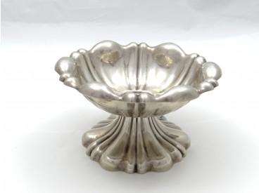 antike FUSS SCHALE / 13 - lötiges SILBER / ÖSTERREICH / HANDARBEIT um 1850