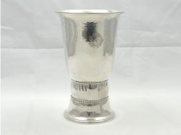 Art Deco Vase Christian F. Heise Dansk Arbedje Silber Dänemark um 1917