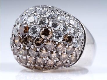 RING mit 8,00 Karat BRILLANTEN / 750 GOLD / WERT: ca. 11.500,- EUR