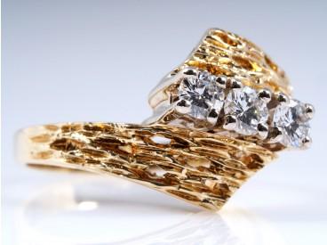RING mit BRILLANTEN / 585 GOLD / DEUTSCHLAND um 1960 / WERT: ca. 1.100,- EUR
