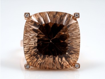 Ring Brillanten Imperial Topas 750 Gold Wert: ca. 5.500,- EUR