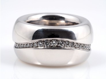 Marken Ring 1,50 Karat Brillanten 750 Weiss Gold ca. 38,80 Gramm