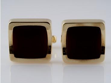 vintage Manschettenknöpfe Karneol 585 Gold 14 Karat