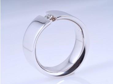 Ring Brillant 585 Weiss Gold ca. 11,85 Gramm Wert: ca. 1.400,- EUR