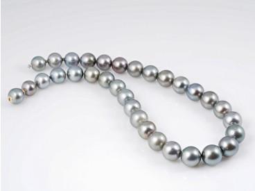 Tahiti Zucht Perlen Kette Collier Wechselschließe 750 Gold