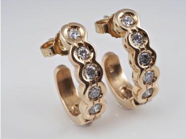 Ohrstecker Ohrringe 0,50 Karat Solitär Brillanten 585 Gold Wert: ca. 1.200,- EUR