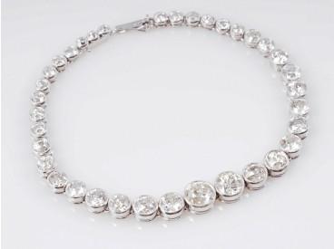 Art Deco Armband 8,00 Karat Diamanten Platin um 1920 original Etui