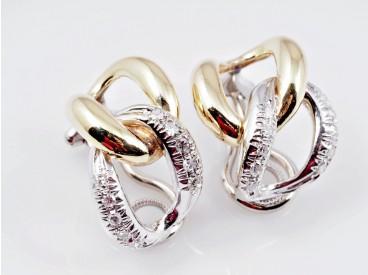 Ohrringe Ohrclips Diamanten 750 Gold Deutschland um 1970 Wert: ca. 1.200,- EUR