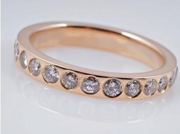 Memory Eternity Ring 2,00 Karat Brillanten 750 Gold 18 Karat