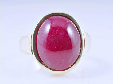 Herren Damen Ring Rubin 585 Gold ca. 11,40 Gramm Deutschland um 1980