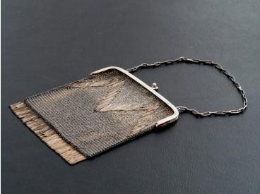 antike Hand Tasche Ketten Tasche Theater Tasche 800 Silber ca. 281 Gramm