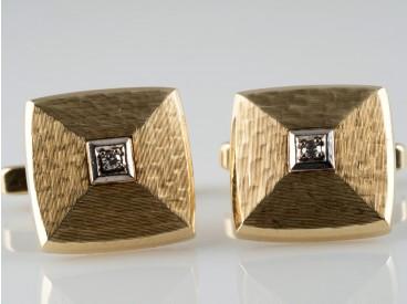 Manschettenknöpfe lupenreine Diamanten 585 Gold 14 Karat