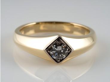 HERREN / DAMEN RING / 0,45 Karat BRILLANT / 585 GOLD / WERT: ca. 1.610,- EUR
