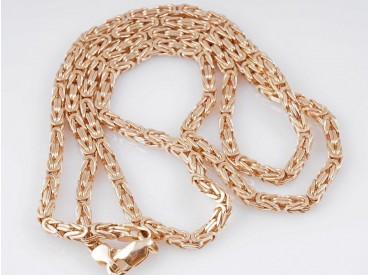 russische Königskette Kette Collier 585 Rosé Gold ca. 36,40 Gramm ca. 59,5 cm