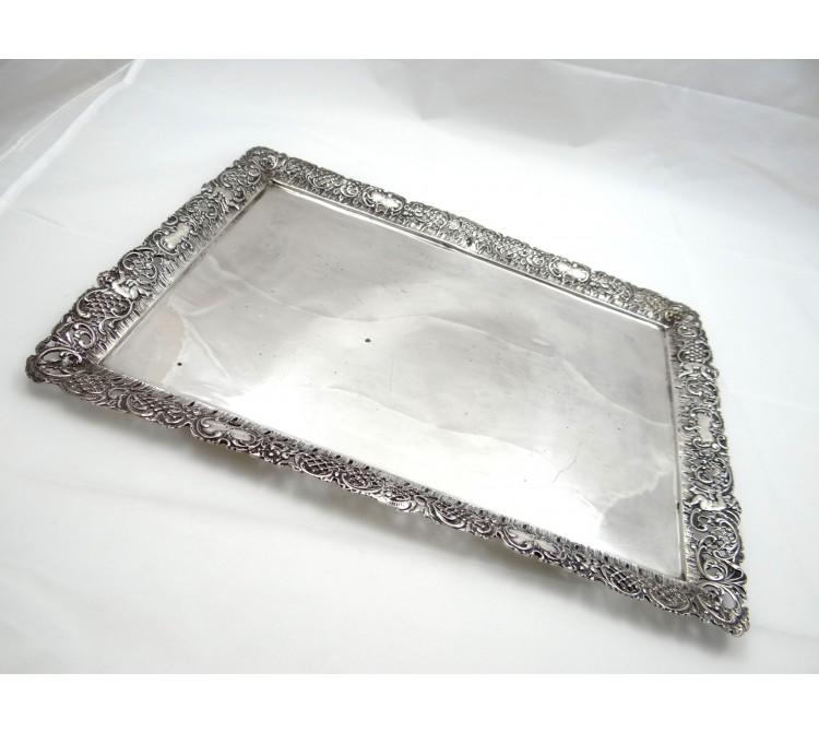 antikes Tablett 800 Silber Deutschland um 1920-1940 ca. 973,00 Gramm