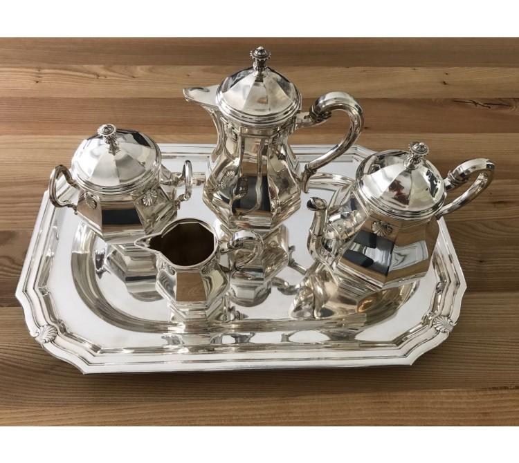 antikes Kaffee Tee Service 800 Silber ca. 4.997 Gramm