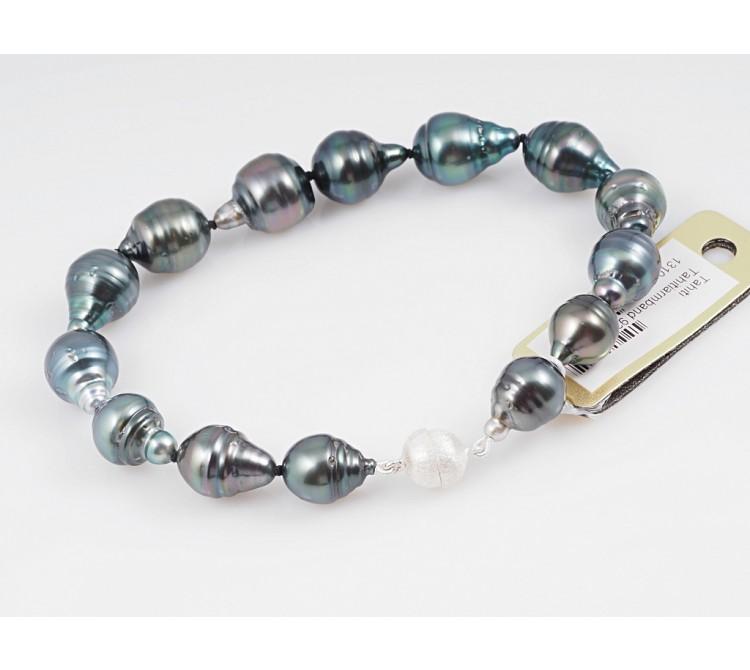 Armband Tahiti Zucht Perlen 925 Silber Wert: 1240,- EUR Zertifikat
