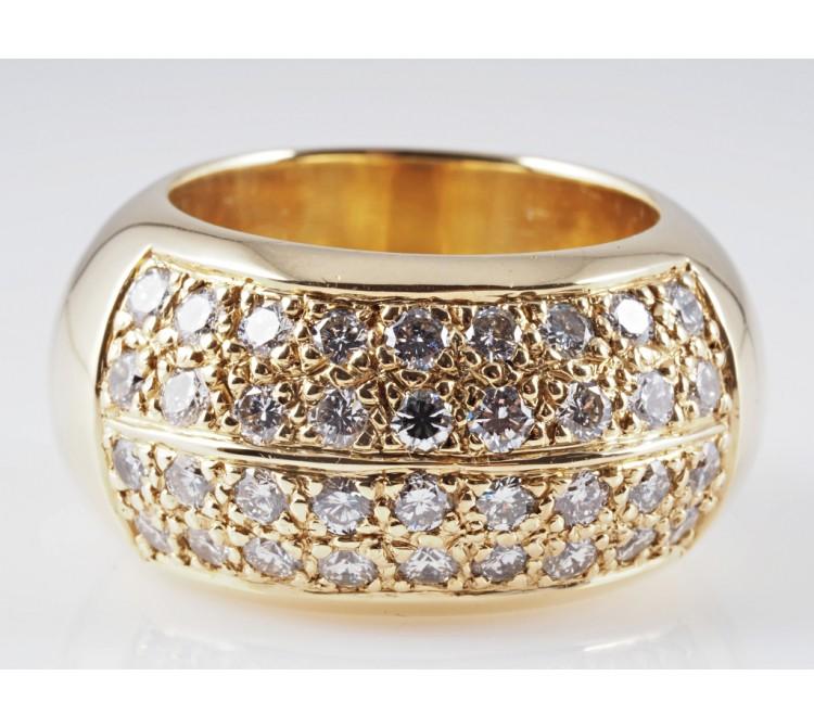 Ring 1,80 Karat Brillanten 750 Gold 18 Karat ca. 34,10 Gramm