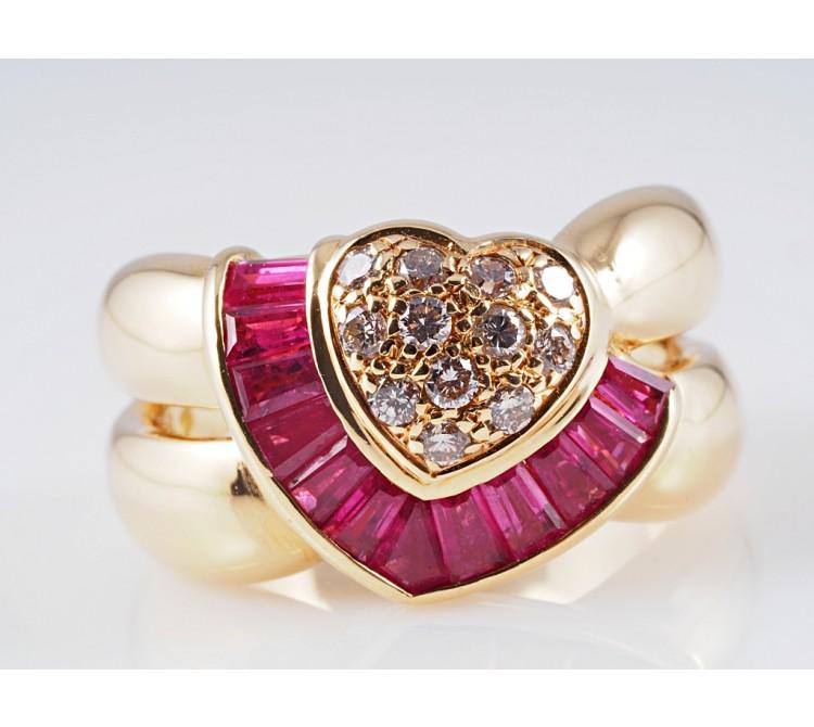 Ring Brillanten Rubine 750 Gold ca. 10,80 Gramm Wert: ca. 1.500,- EUR
