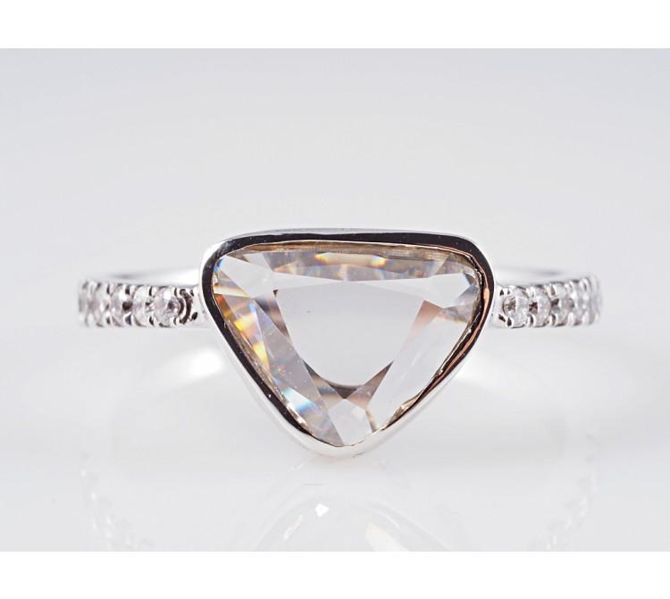 Ring 0,85 Karat Solitär Diamant 0,24 Karat Brillanten 750 Gold 18 Karat