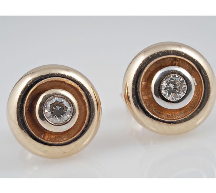 Ohrstecker Ohrringe Brillanten 585 Gelb Gold 14 Karat