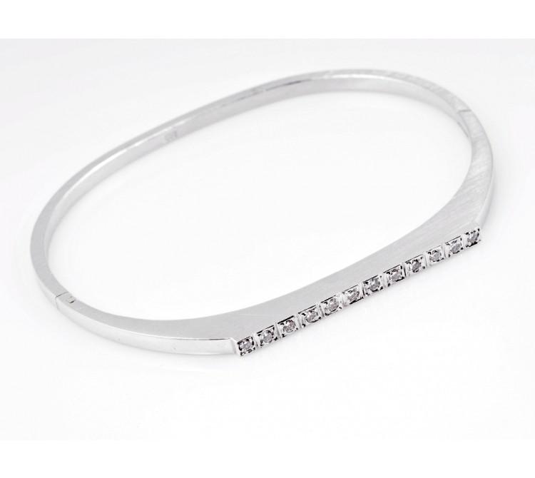 Designer Armband Armreif 0,24 Karat Brillanten 585 Gold 14 Karat