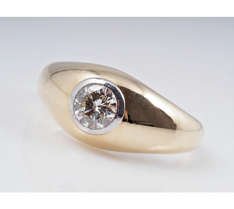Damen Herren Ring 0,80 Karat Solitär Brillant 585 Gold ca. 12,00 Gramm