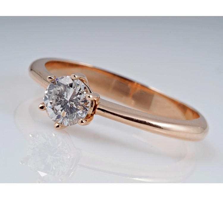 Ring 0,56 Karat Solitär Brillant 750 Rosé Gold Wert ca. 2.200,- EUR