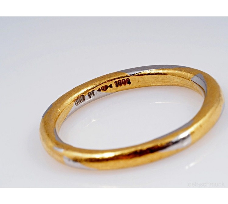 NIESSING RING / 1000 GOLD und 950 PLATIN