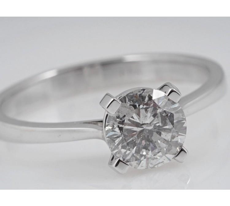 Ring 1,01 Karat Solitair Brillant 750 Weiss Gold Wert: ca. 5.300,- EUR