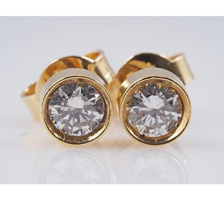 Ohrringe Ohrstecker 0,80 Karat Brillanten 750 Gold 18 Karat