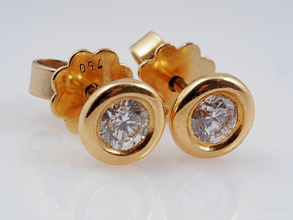 Ohrstecker 750 gold brillant