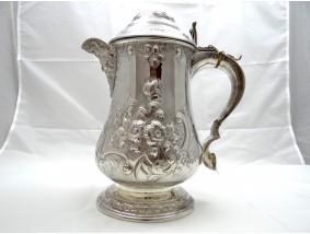 antiker Bier Wasser Henkel Krug Beer Water Jug Silber ca. 1115.00 Gramm