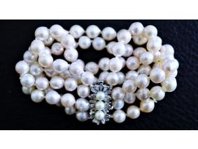 vintage Akoya Zucht Perlen Armband 835 Silber ca. 51,68 Gramm