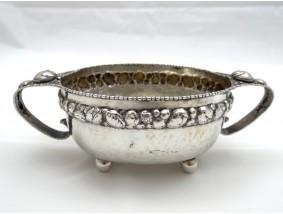 antike kleine Henkel Schale 800 Silber Handarbeit
