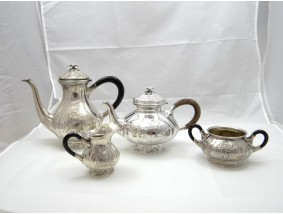 antikes Kaffee Tee Service 826 Silber Dänemark um 1941-42 Handarbeit