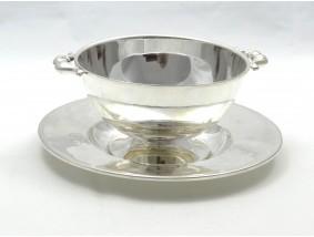 antike Art Deco runde Sauciere 800 Silber Hersteller: Pröpsting