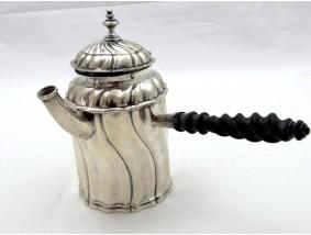 antike Chocolatier Mocca Kanne von Büsch 800 Silber Handarbeit um 1920
