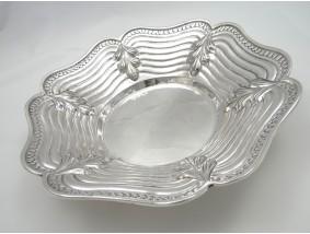 alte runde Schale 900 Silber Handarbeit ca. 418.00 Gramm
