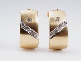 Ohrstecker Ohrringe 0,04 Karat Brillanten 585 Gold 14 Karat