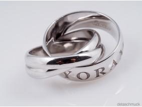 Cartier Or Amour Et Trinity Ring 750 Gold 18 Karat ca. 10,00 Gramm Größe: 45
