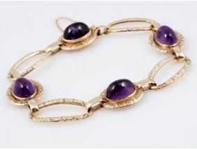 antikes Armband 12,00 Karat Amethyste 585 Gold um 1930 - 1940