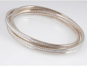 Cartier Trinity Armband Bracelet 7,20 Karat Brillanten 750 Gold Original Etui